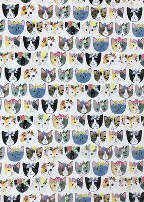 Jillson & Roberts Gift Wrap Roll Kitty Cats