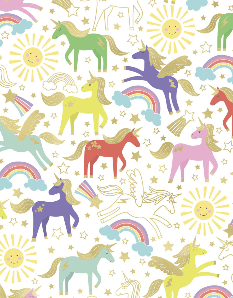 Jillson & Roberts Gift Wrap Roll Unicorn