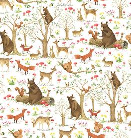 Jillson & Roberts Gift Wrap Roll Fairytale Forest