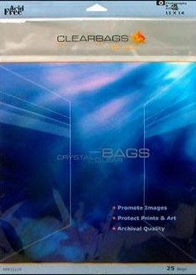 Clear Bags Clear Bags  11 x 14 Pack of 25