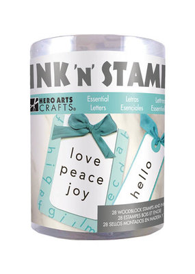 Hero Arts Ink and Stamp Set Essential Letters