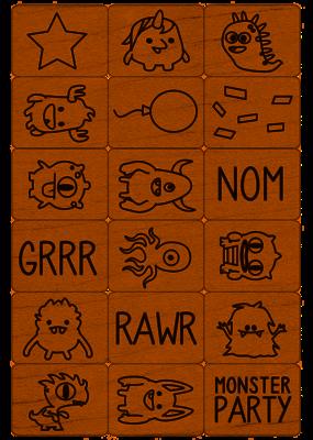 Hero Arts Monster Ink 'n' Stamp Set