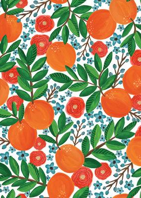 Jillson & Roberts Gift Wrap Roll Mandarin Grove