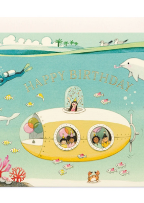 joo joo paper Card Submarine Birthday