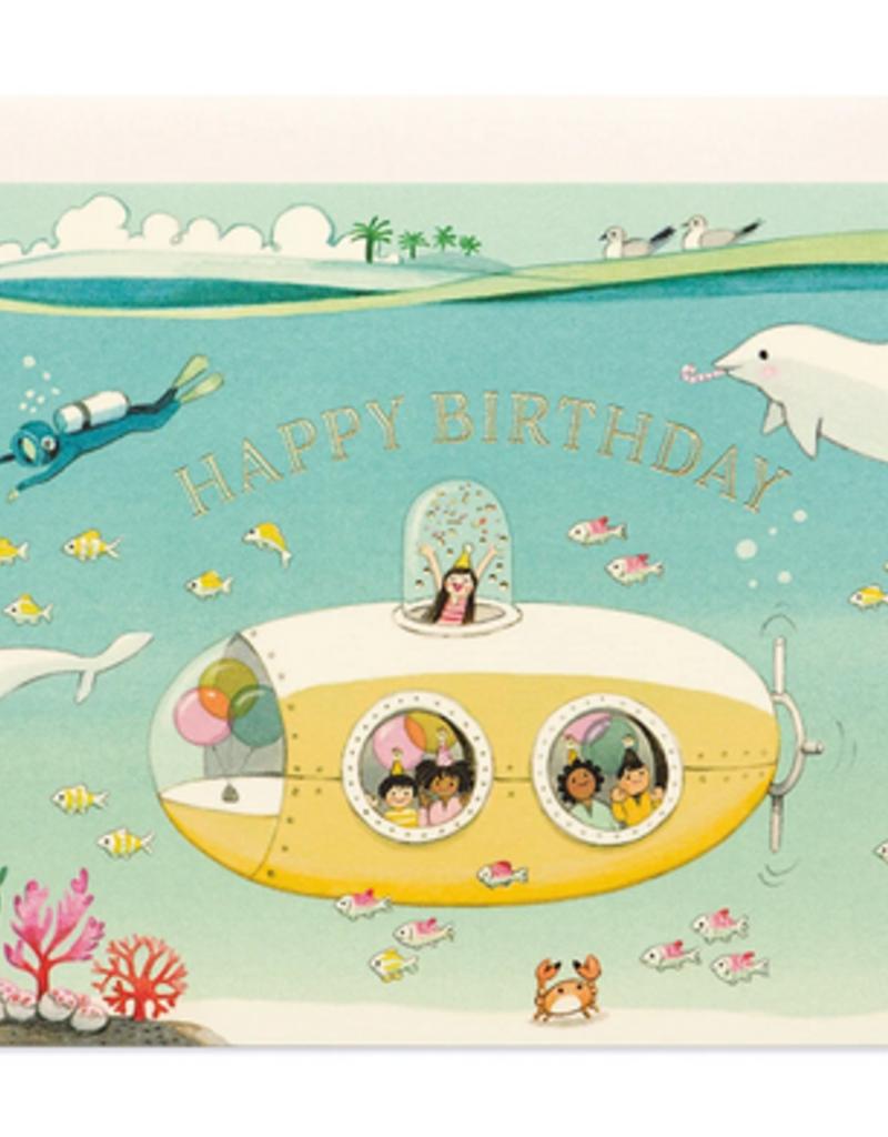 joo joo paper Card Submarine Birthday