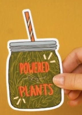 KPB Designs Sticker Powered By Plants
