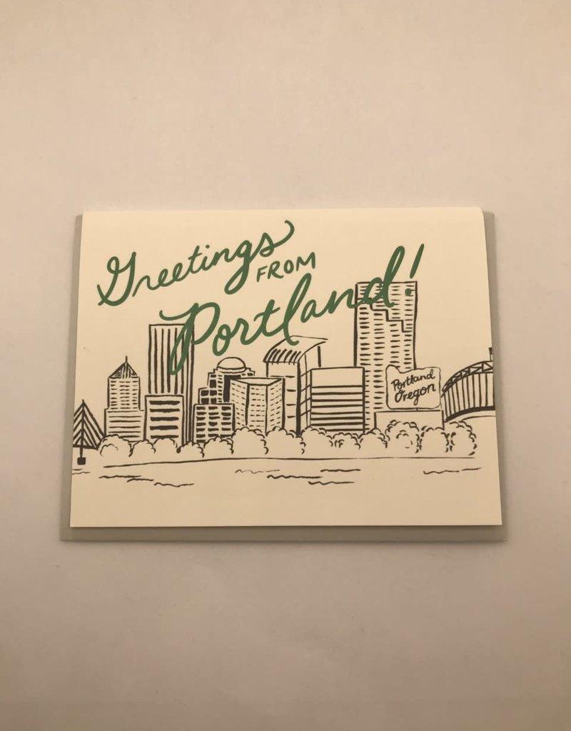 Slightly Stationery Card From Portland