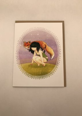 Stasia Burrington Card Girl and Her Fox