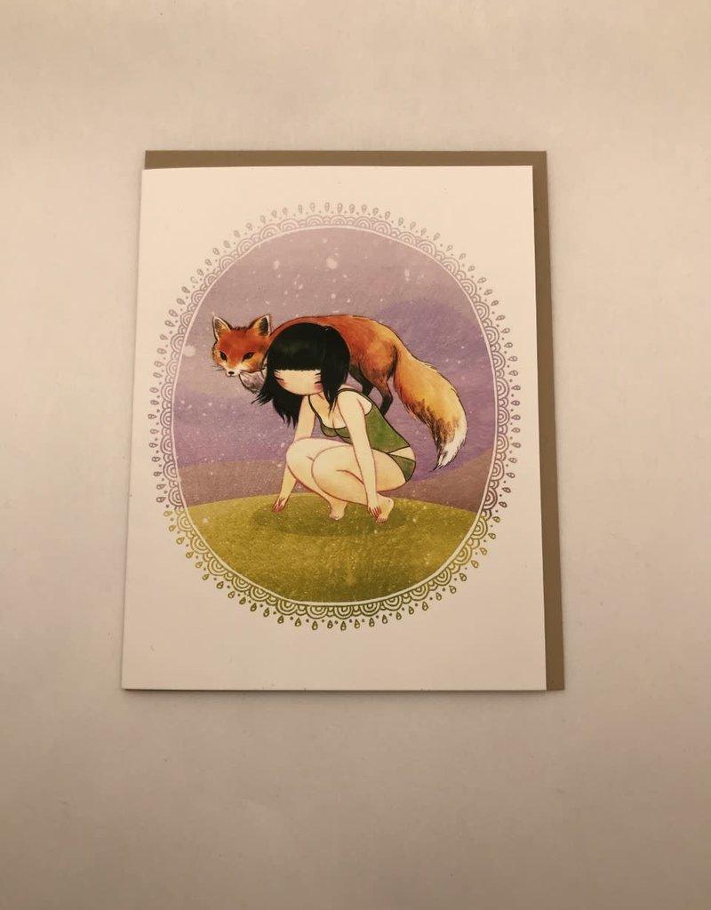 Stasia Burrington Card Girl and Her Fox