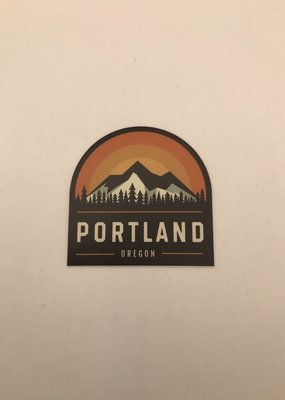 Stickers NW Sticker Portland Mountain Sunrise Crest