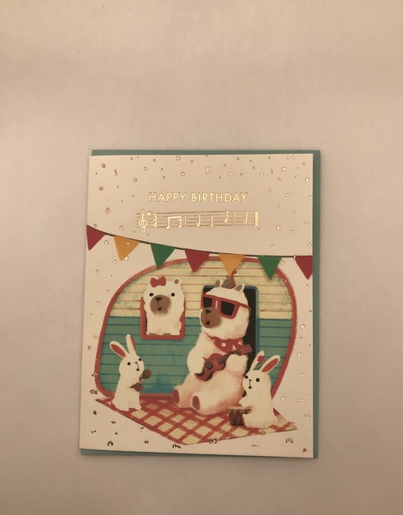 The Little Red House Card Birthday Animals