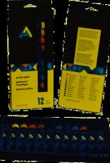 Art Alternatives Acrylic Paint 12 Color Tube Set