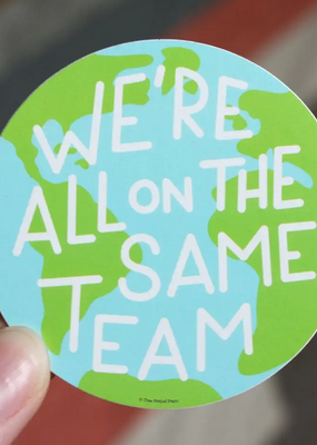 Free Period Press Vinyl Sticker Same Team Earth