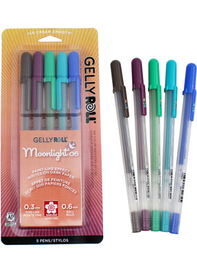 Gelly Roll Moonlight Fine Point Set of 5 Twilight Colors