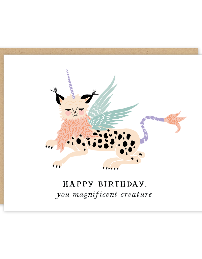 Party of One Card Birthday Creature