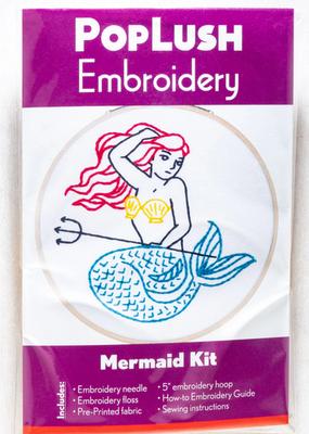 Pop Lush Embroidery Kit Mermaid