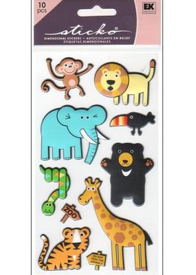 EK Sticker Puffy Zoo
