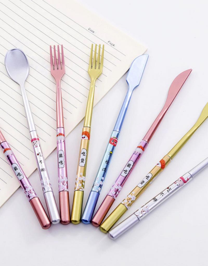collage Cutlery Gel Pen