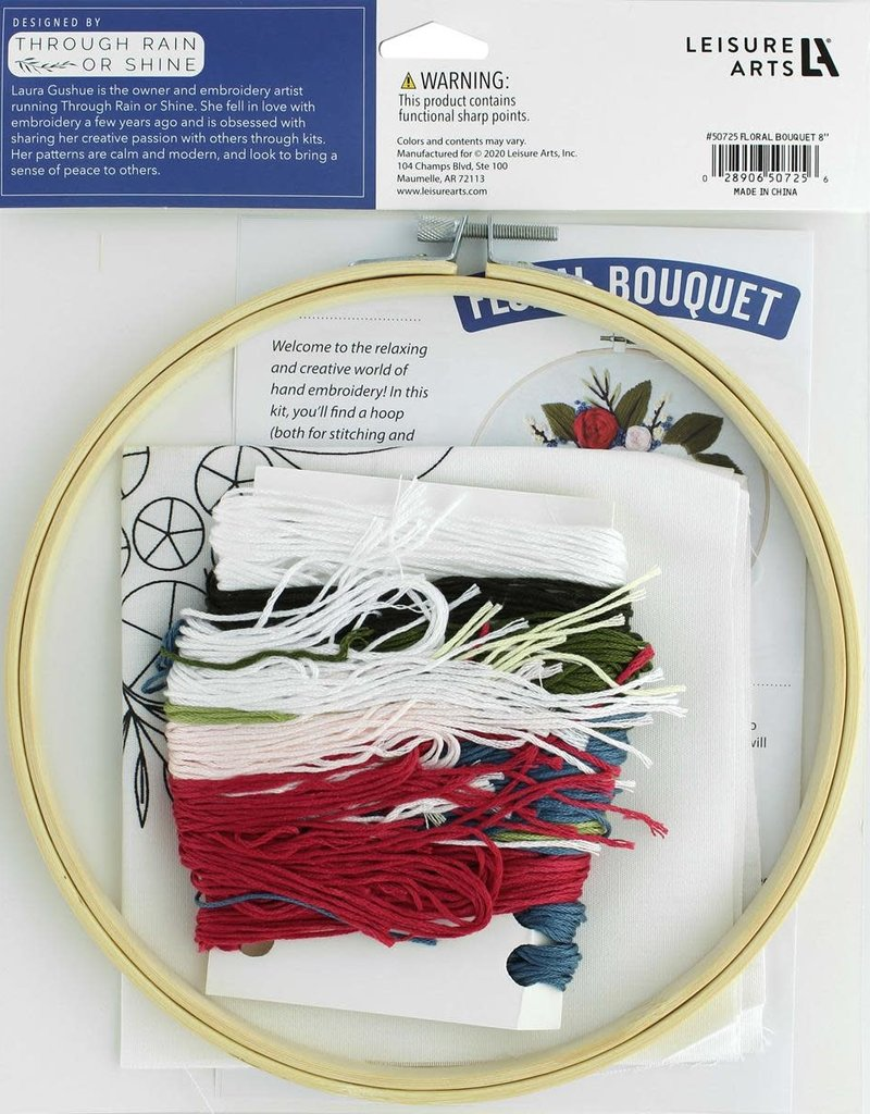 Leisure Arts Embroidery Kit Floral Bouquet