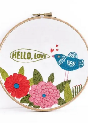 Budgie Goods Embroidery Kit Hello Love