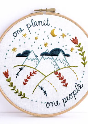 budgiegoods Embroidery Kit One Planet