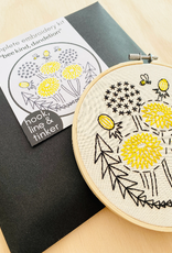 Hook, Line & Tinker Embroidery Kit Bee Kind Dandelion