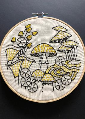Hook, Line & Tinker Embroidery Kit Fungus Among Us