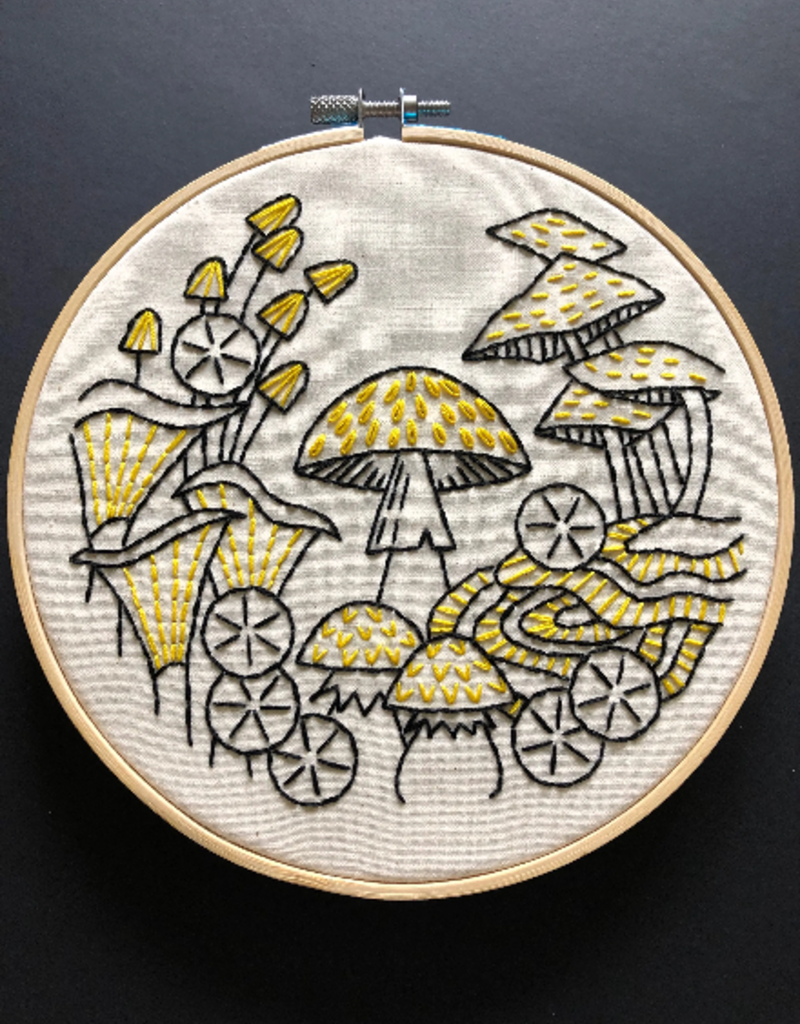 Hook, Line & Tinker Embroidery Kit Fungus Among Us