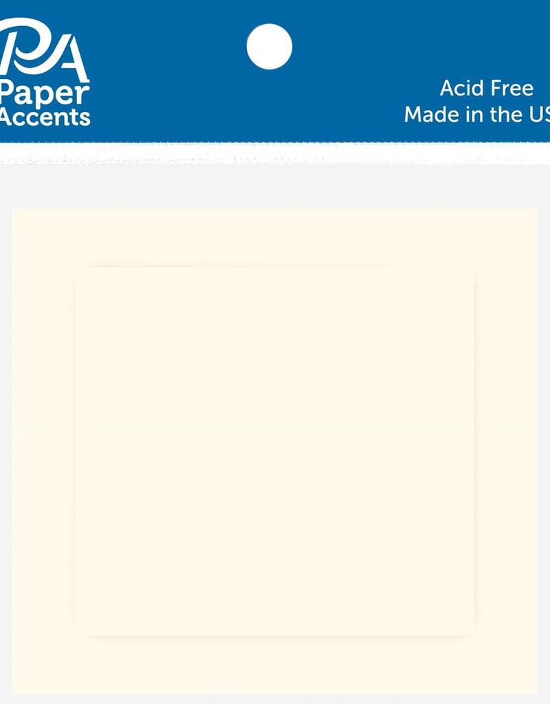 Paper Accents Card and Envelope Set 2.5 x 2.5 Cream 10 pc