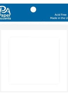 Paper Accents Cards and Envelopes 2.5 x 2.5 White Set of 10