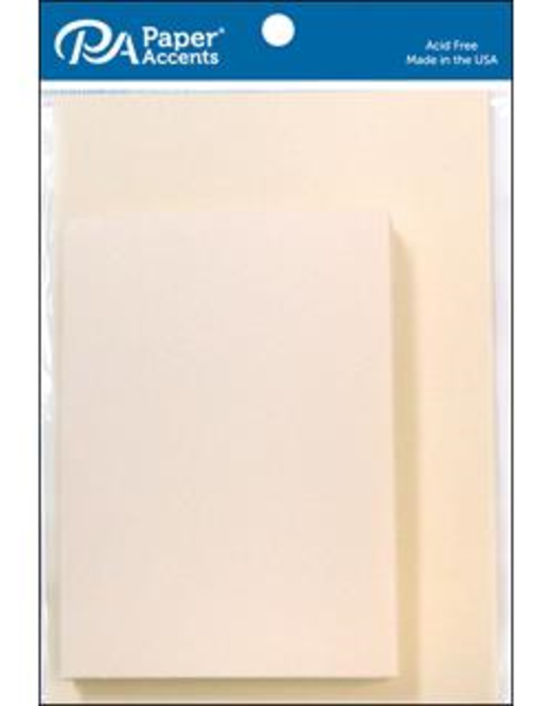 Paper Accents Cards and Envelopes 3.5 x 5 Cream Set of 10