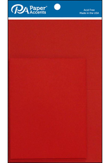 Paper Accents Card and Envelope Set 4.25 x 5.5 Dark Red 8 pc