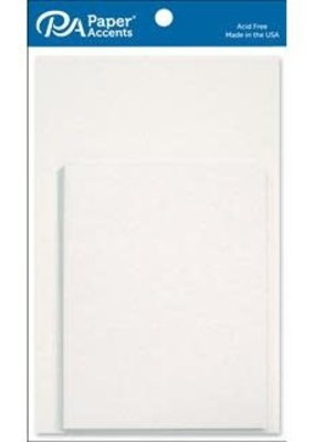 Paper Accents A2 Cards and Envelopes 4.25 x 5.5 Set of 10  Set of 10 White