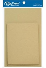 Paper Accents A2 Cards and Envelopes 4.25 x 5.5 Set of 10 Recycled Kraft
