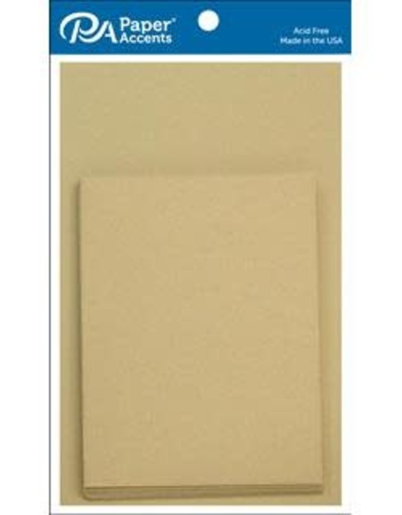 Paper Accents Card and Envelope 4.25 x 5.5  Set of 10 Recycled Kraft