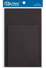 Paper Accents A2 Cards and Envelopes 4.25 x 5.5  Set of 10 Black