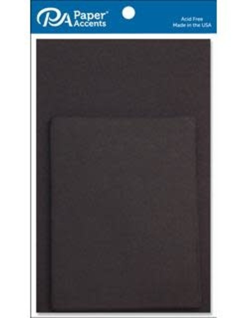 Paper Accents A2 Cards and Envelopes 4.25 x 5.5 Set of 10  Set of 10 Black