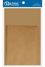 Paper Accents Card and Envelope 4.25 x 5.5  Set of 10 Brown Bag