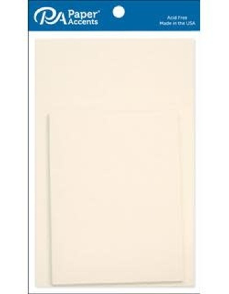 Paper Accents A2 Cards and Envelopes 4.25 x 5.5 Set of 10  Set of 10 Cream