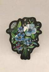 Katie Daisy Sticker Nocturne Flower Bouquet