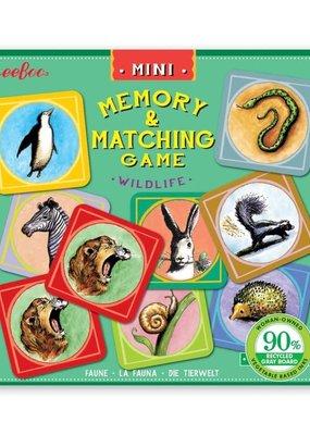 eeBoo Mini Memory and Matching Game Wildlife
