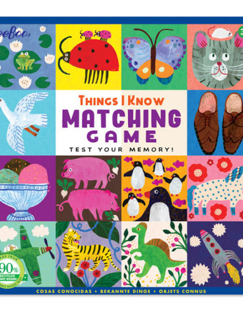 eeBoo Mini Memory and Matching Game Things I Know