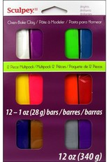 Sculpey Sculpey III Polymer Clay Multipack 12 Pack Brights