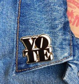 The Found Enamel Pin Vote Black/White