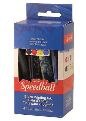 Speedball Basic Block Printing 4 Color Kit