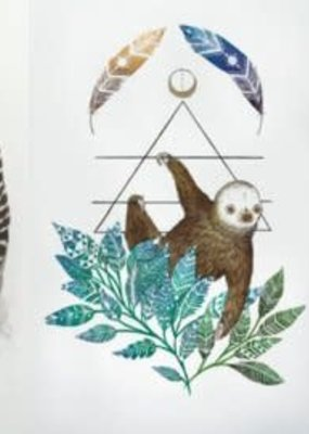 Marika Paz Postcard Sloth