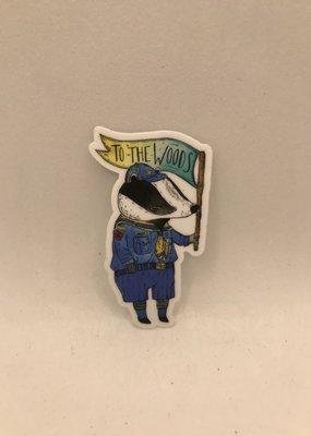 Marika Paz Sticker To the Woods Badger