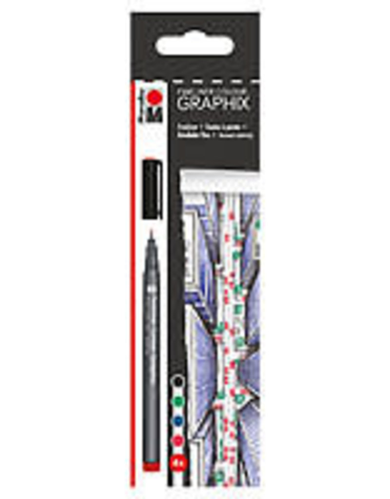 Marabu Graphix Fineliner 4 Color Set Skyline