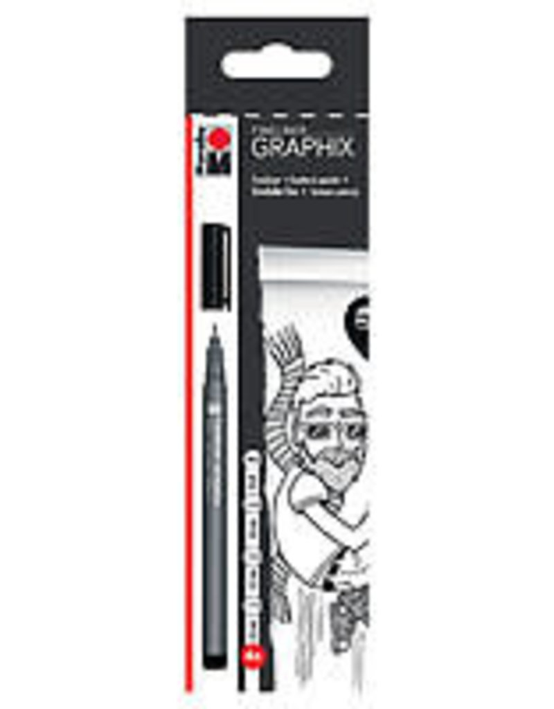 Marabu Graphix Fineliner 4 Pen Set Black