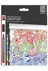 Marabu Graphix Fineliner 12-Color Set Doodle